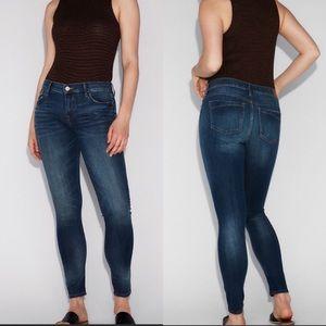 Express Repreve Mid Rise Legging Jean Dark Wash